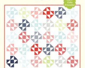 "Bake A Cake  Quilt Pattern - Cotton Way Pattern - Bonnie Olaveson - Bonnie and Camille - Layer Cake Pattern - 82"" x 82"" Quilt"