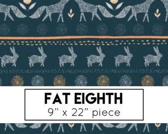 FAT EIGHTH | Stay Wild - Fox Stripe Fabric - Dear Stella - Woodland Fabric
