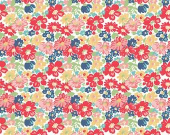Red Vintage Floral Fabric - Vintage Happy 2 - Lori Holt