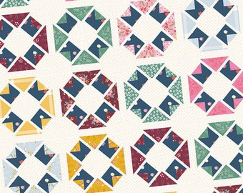 "In Season Quilt Pattern - It's Sew Emma - Star Quilt Pattern - Fat Quarter Pattern - 71"" x 84.5"" Quilt"