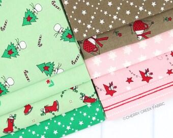 Merry Merry Sno Days Mini Fat Quarter Bundle - Bunny Hill Designs