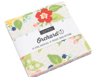 Orchard Charm Pack - April Rosenthal - Moda Fabric - Fabric Bundle - Moda Charm Pack - 42 pieces