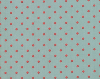 FAT EIGHTH | 101 Maple Street Fabric - Aqua Dots Fabric - Bunny Hill Designs - Moda Fabric - Fall Fabric - Autumn Fabric