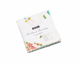 Woodland Secrets Charm Pack Fabric - Shannon Gillman Orr - Moda Fabric - Floral Fabric - Moda Charm Pack Fabric - 42 pieces