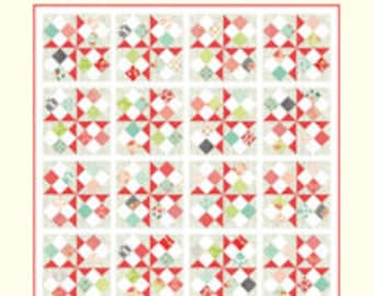 "Sweet Treats Quilt Pattern - Cotton Way Pattern - Bonnie Olaveson - Bonnie and Camille - Moda Treats Pattern - 77"" x 96"" Quilt"