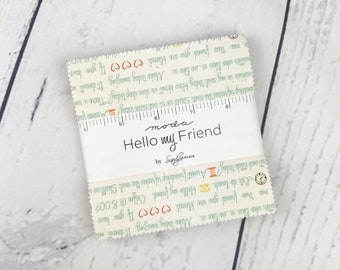 Hello My Friend Charm Pack - Sandy Gervais