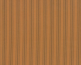 101 Maple Street Fabric - Gold Country Stripes Fabric - Bunny Hill Designs - Moda Fabric - Fall Fabric - Stripes Fabric - Sold by the Yard
