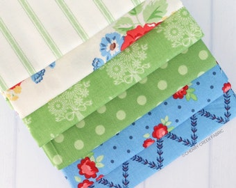 Fabric Bundle Amanda Herring 6 pieces Half Yard Bundle Riley Blake Designs Harry /& Alice BlueGreen Half Yard Bundle