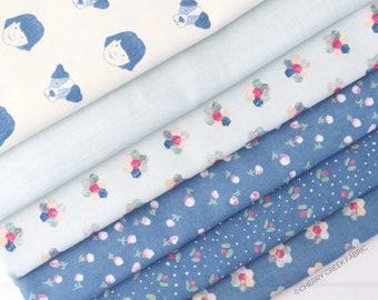 Freya & Friends Blue Fat Quarter Bundle - Janet Clare