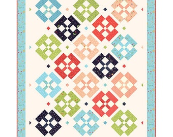 """Porch Swing Quilt Pattern - A Quilting Life Pattern - Sherri McConnell - Jelly Roll Quilt Pattern - 56"""" x 70"""" Quilt"""