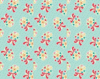 Blue Vintage Bouquet Fabric - Vintage Happy 2 - Lori Holt
