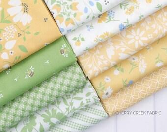 Spring Brook Green & Yellow Fat Quarter Bundle - Corey Yoder - Moda Fabrics - Floral Fabric - Fabric Bundle - 10 pieces