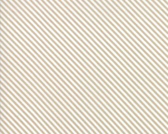 FAT EIGHTH | Tan Stripes Fabric - Bloomington - Lella Boutique - Moda Fabrics -  Binding Fabric