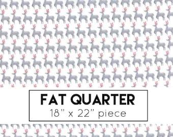 FAT QUARTER | Sno Fabric - White Grey Small Deer Fabric - Northern Quilts - Moda Fabrics - Christmas Fabric - Holiday Fabric
