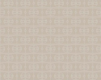 Varsity Fabric - Tan Basketball Fabric - Deena Rutter - Riley Blake Designs - Basketball Fabric - Sports Fabric - Sold by the Yard
