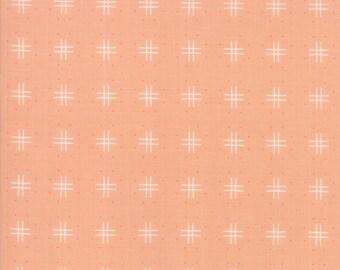 Lollipop Garden Fabric - Peach Tic Tac Toe Fabric - Lella Boutique