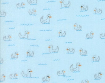 Soft & Sweet Flannel Fabric - Blue Duck Flannel Fabric - Stacy Iest Hsu - Moda Fabric - Duck Fabric - Flannel Fabric - Sold by the Yard