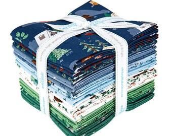 Camp Woodland Fat Quarter Bundle - Natàlia Juan Abelló - Riley Blake Fabrics - Outdoor Fabric - Animal Bundle - Camping Fabric - 21 pieces
