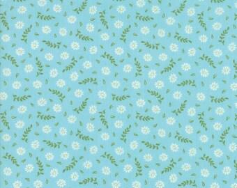 Harper's Garden Fabric - Aqua Floral Blooms Fabric - Sherri & Chelsi