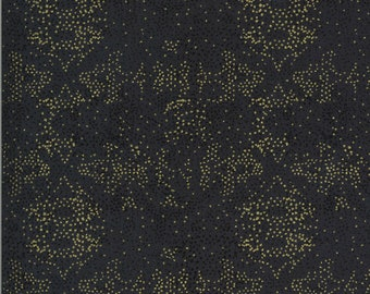 Black Fading Light Fabric - Dwell In Possibilities - Gingiber - Moda Fabrics - Grunge Fabric - Sparkle Fabric - Sold by the Yard