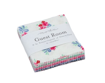 Guest Room Mini Charm Pack - Kristyne Czepuryk - Moda Fabric - Fabric Precut - Moda Mini Charm Pack - 42 pieces