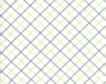 Smitten Fabric - Blue Plaid Fabric - Bonnie & Camille Fabric - Moda Fabric - Blue Fabric - Plaid Fabric - Sold by the Yard
