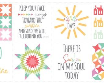 Sunnyside Up Quilt Panel - Corey Yoder - Moda Fabrics - Fabric Panel - Sunshine Fabric - Sunnyside Up Fabric