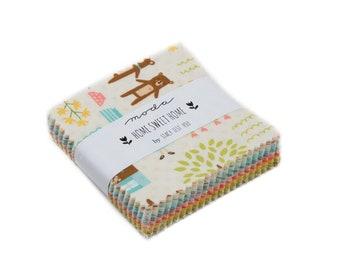 Home Sweet Home Mini Charm Pack - Stacy Iest Hsu - Moda Fabric - Mini Charm Pack - 42 pieces