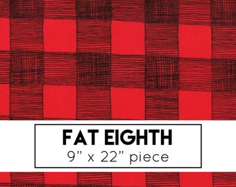 FAT EIGHTH | Farm Fresh Fabric - Red Rustic Gingham Fabric - Gingiber - Moda Fabric - Farm Fabric - Gingham Fabric