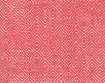 Red Diamond Woven Fabric - Bonnie and Camille Wovens - Moda Fabric - Geometric Fabric - Woven Fabric - Sold by the Yard