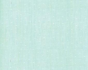 Aqua Dot Woven Fabric - Bonnie and Camille Wovens - Moda Fabric - Polka Dot Fabric - Woven Fabric - Sold by the Yard
