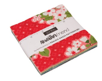 All Weather Friend Charm Pack - April Rosenthal - Moda Fabrics - Fabric Precuts - Moda Charm Pack - 42 pieces