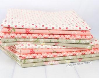 Harper's Garden Pink & Tan Half Yard Bundle - Sherri and Chelsi