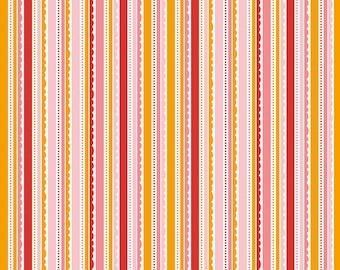 FAT QUARTER | Happy Day Fabric - Pink Stripe Fabric - Riley Blake Fabric - Stripe Fabric - Cotton Fabric - Binding Fabric