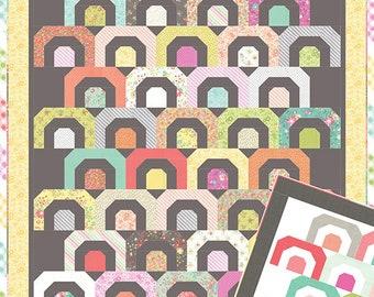 """Rainbows Quilt Pattern - Corey Yoder - Moda Fabrics - Jelly Roll Pattern - Quilt Pattern - 70"""" x 82"""" Quilt"""