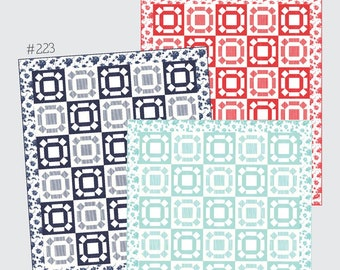 """Head Over Heels Quilt Pattern - Thimble Blossoms Pattern - Camille Roskelley - Bonnie and Camille - Fat Quarter Pattern - 69"""" x 81"""" Quilt"""