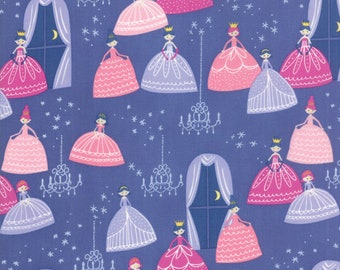 Fat Quarter | Once Upon A Time Fabric - Purple Grand Ball Fabric - Stacy Iest Hsu - Moda Fabric - Princess Fabric - Castle Fabric