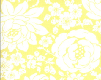 Yellow Mums Floral Fabric - Shine On Fabric - Bonnie and Camille - Moda Fabric - Flower Fabric - Floral Fabric - Sold by the Yard