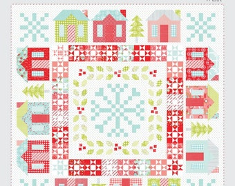 """Winterville Quilt Pattern - Thimble Blossoms Pattern - Camille Roskelley - Bonnie and Camille - Fat Quarter Pattern - 78"""" x 78"""" Quilt"""