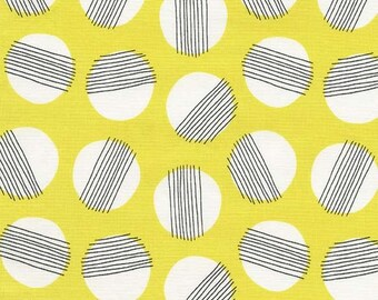 Fat Quarter | Yellow Circles Fabric - Everglades Fabric - Betsy Siber