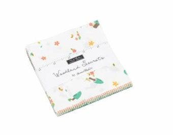 Woodland Secrets Mini Charm Pack Fabric - Shannon Gillman Orr - Moda Fabric - Floral Fabric - Moda Mini Charm Pack Fabric - 42 pieces