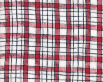 Oxford Wovens Fabric - Denim Red Plaid Woven Fabric - Sweetwater - Moda Fabric - Plaid Fabric - Red Fabric - Woven Fabric - Sold by the Yard