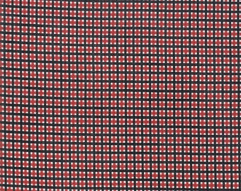 Merry Starts Here Fabric - Red & Black Christmas Plaid Fabric - Sweetwater - Moda Fabrics - Christmas Fabric - Sold by the Yard