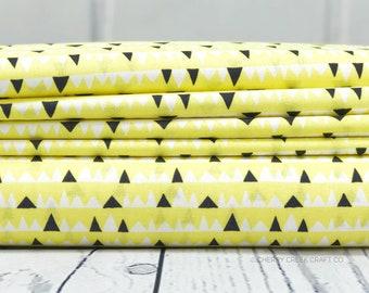 Yellow Triangle Fabric - Everglades Fabric - Betsy Siber
