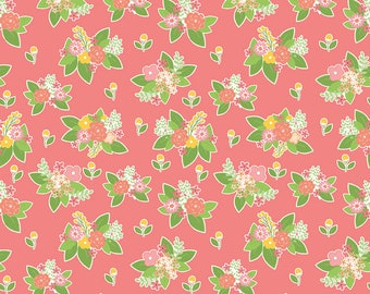 SALE | Vintage Adventure - Pink Adventure Floral Fabric - Beverly McCullough - Riley Blake Designs - Sold by the Yard