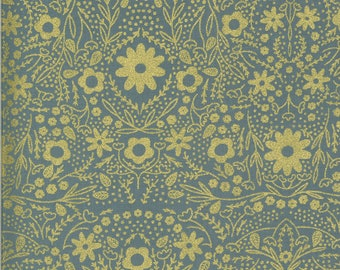 Sky Full Bloom Fabric - Dwell In Possibilities - Gingiber - Moda Fabrics - Moth Fabric - Flower Fabric - Sold by the Yard