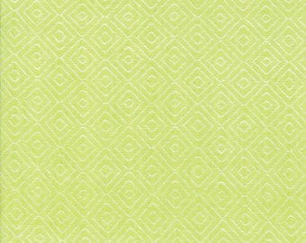 Green Diamond Woven Fabric - Bonnie and Camille Wovens - Moda Fabric - Geometric Fabric - Woven Fabric - Sold by the Yard
