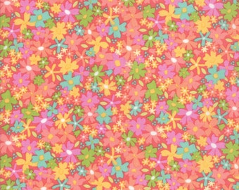 Sunnyside Up Fabric - Pink Floral Charming Fabric - Corey Yoder - Moda Fabrics - Floral Fabric - Flower Fabric - Sold by the Yard