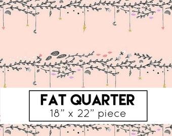 FAT QUARTER | Pink Vines Fabric - Believe Fabric - Sandra Clemons - Michael Miller - Floral Fabric