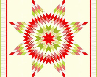 """Yuletide Quilt Pattern - Figtree and Co - 80"""" x 80"""" Quilt"""